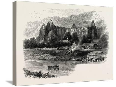 Tintern Abbey, UK, 19th Century--Stretched Canvas Print