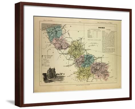 Map of the North of, France--Framed Art Print