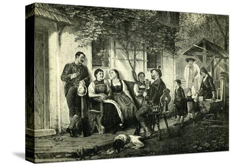 Sunday Hunters Austria 1891--Stretched Canvas Print