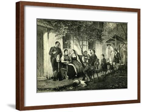Sunday Hunters Austria 1891--Framed Art Print