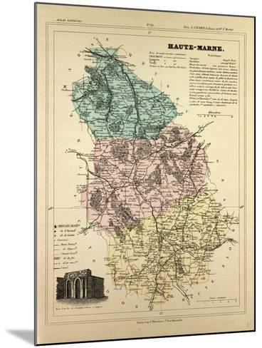 Map of Haute-Marne, France--Mounted Giclee Print