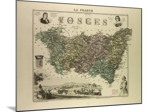Map of Vosges 1896, France--Mounted Giclee Print