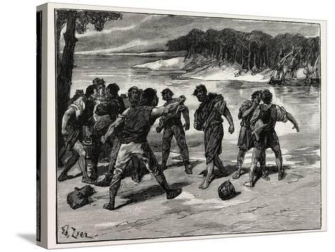 The Sailors' Quarrel Near Bayonne--Stretched Canvas Print
