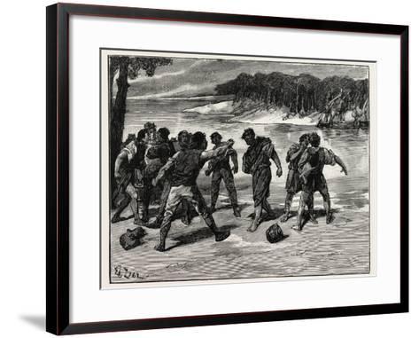 The Sailors' Quarrel Near Bayonne--Framed Art Print
