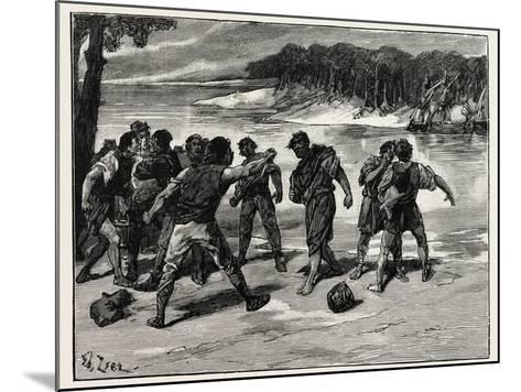 The Sailors' Quarrel Near Bayonne--Mounted Giclee Print