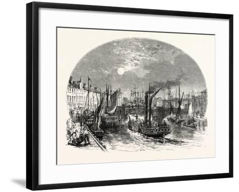 Edinburgh: Leith Harbour 1829--Framed Art Print