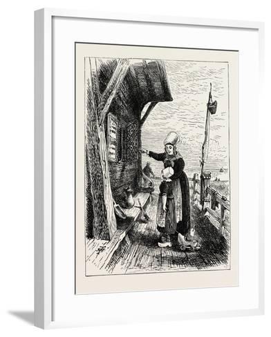 A Norwegian Peasant's House--Framed Art Print