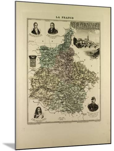 Map of Ardennes 1896 France--Mounted Giclee Print