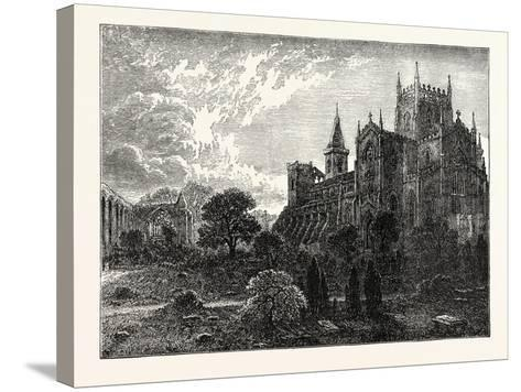 Dunfermline Abbey and Church--Stretched Canvas Print