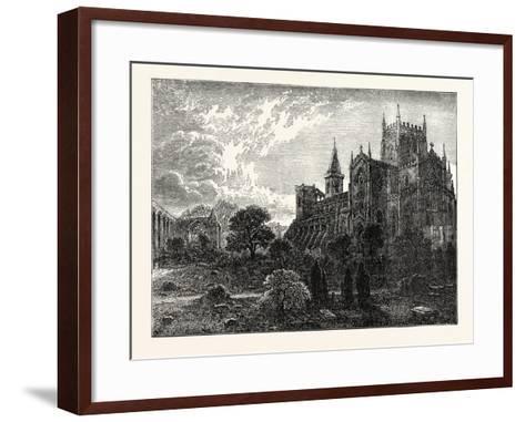 Dunfermline Abbey and Church--Framed Art Print