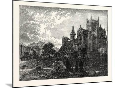 Dunfermline Abbey and Church--Mounted Giclee Print