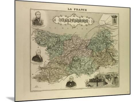 Map of Calvados 1896 France--Mounted Giclee Print