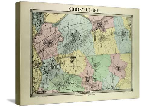Map of Choisy-Le-Roi France--Stretched Canvas Print