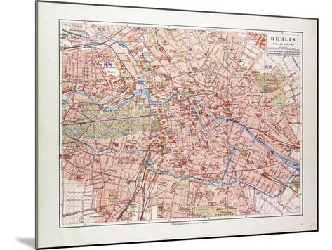 Map of Berlin Germany 1899--Mounted Giclee Print