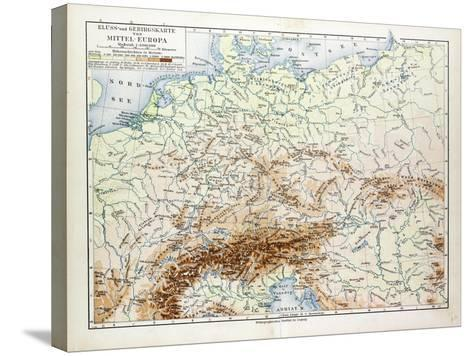 Map of Central Europe 1899--Stretched Canvas Print