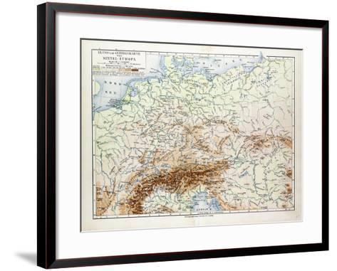 Map of Central Europe 1899--Framed Art Print