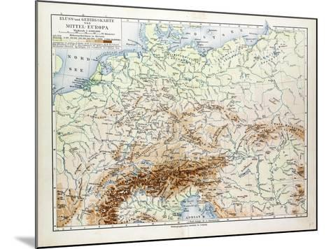 Map of Central Europe 1899--Mounted Giclee Print