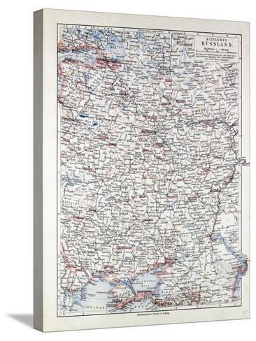 Map of Central Russia 1899--Stretched Canvas Print