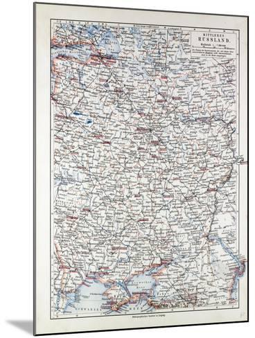 Map of Central Russia 1899--Mounted Giclee Print