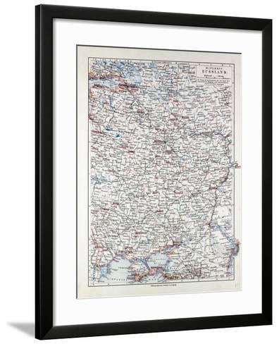 Map of Central Russia 1899--Framed Art Print