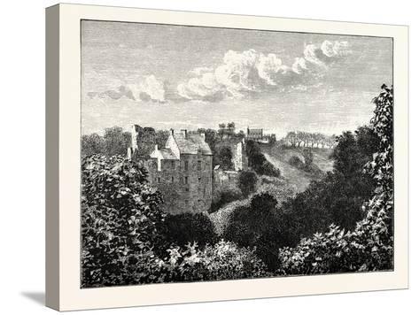 Edinburgh: Roslin Castle and Glen--Stretched Canvas Print
