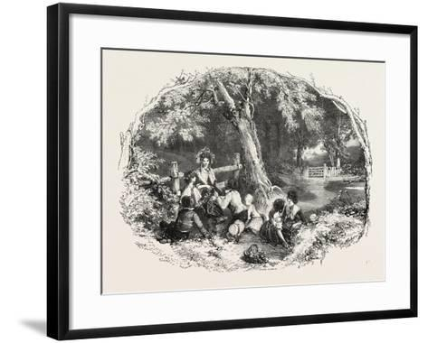 In the Countryside--Framed Art Print