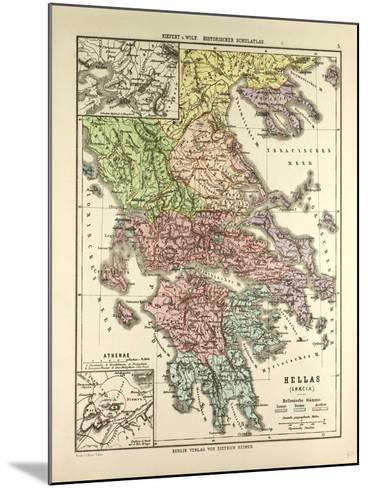Old Map of Greece--Mounted Giclee Print