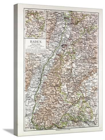 Map of Baden Germany 1899--Stretched Canvas Print