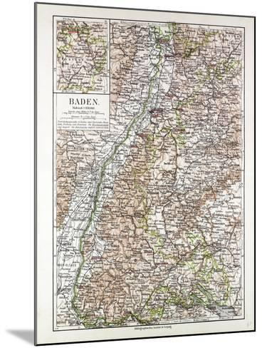Map of Baden Germany 1899--Mounted Giclee Print