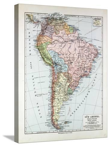 Map of South America 1899--Stretched Canvas Print