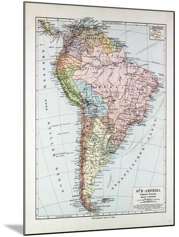 Map of South America 1899--Mounted Giclee Print