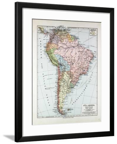 Map of South America 1899--Framed Art Print