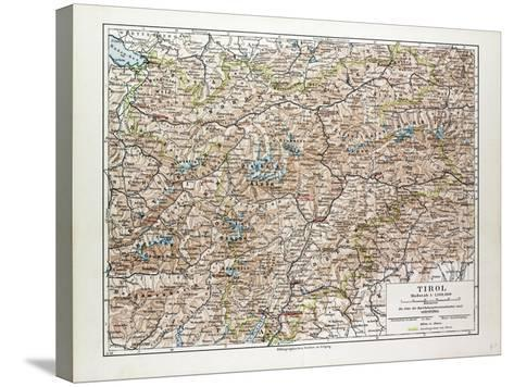 Map of Tirol Austria 1899--Stretched Canvas Print
