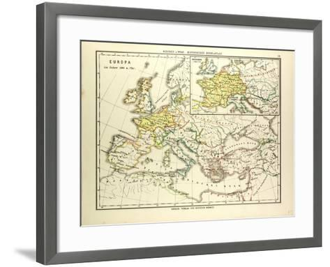 Map of Europe in 500 A.D--Framed Art Print