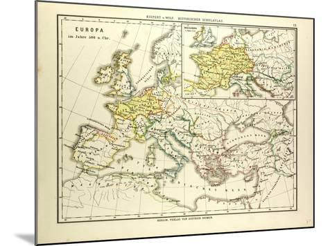 Map of Europe in 500 A.D--Mounted Giclee Print