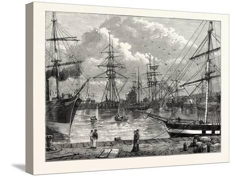 The Edinburgh Dock Leith--Stretched Canvas Print