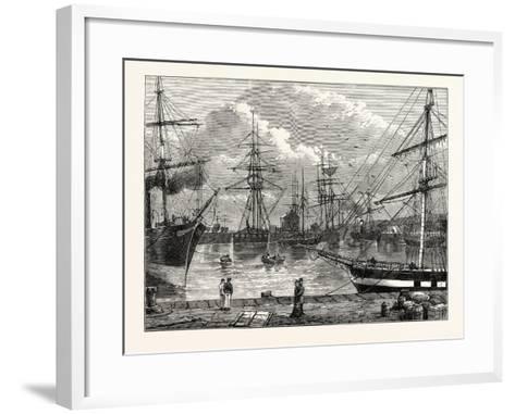 The Edinburgh Dock Leith--Framed Art Print