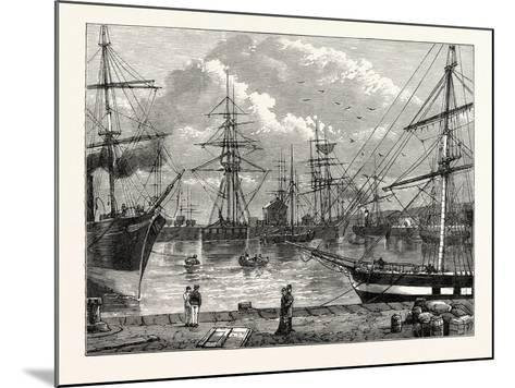 The Edinburgh Dock Leith--Mounted Giclee Print