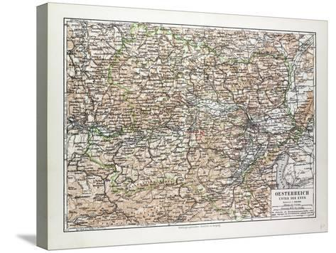 Map of Austria 1899--Stretched Canvas Print