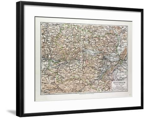 Map of Austria 1899--Framed Art Print