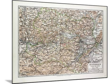 Map of Austria 1899--Mounted Giclee Print