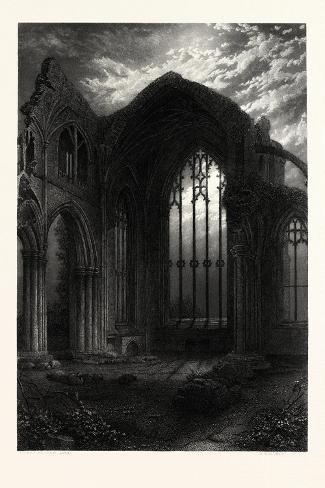 Melrose Abbey, UK--Stretched Canvas Print