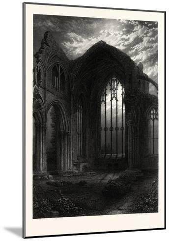 Melrose Abbey, UK--Mounted Giclee Print
