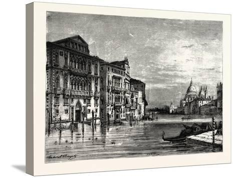 On the Grand Canal Venice--Stretched Canvas Print