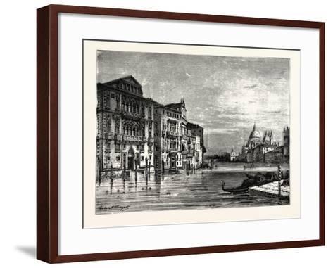 On the Grand Canal Venice--Framed Art Print