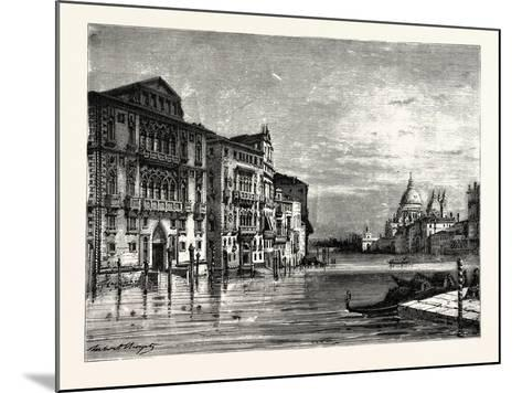 On the Grand Canal Venice--Mounted Giclee Print