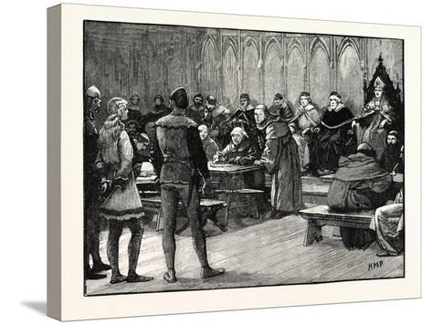 Trial of Joan of Arc--Stretched Canvas Print