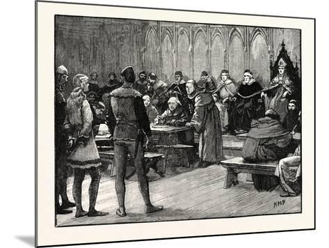 Trial of Joan of Arc--Mounted Giclee Print
