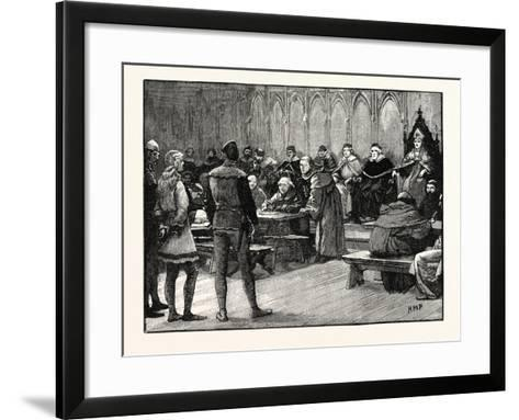 Trial of Joan of Arc--Framed Art Print