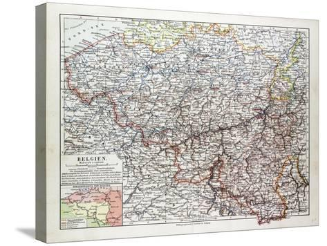 Map of Belgium 1899--Stretched Canvas Print